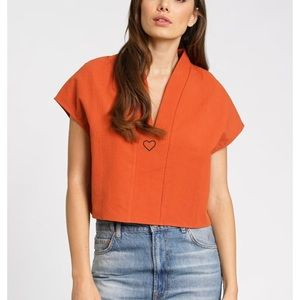 Tops - V neck structures top - brand new